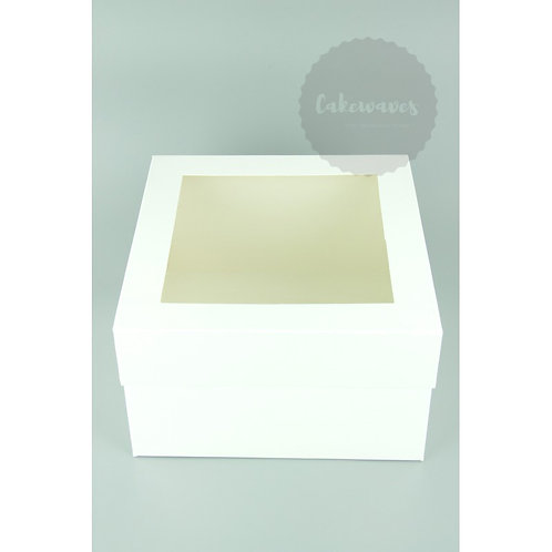 10 inch White Cake Box With Window