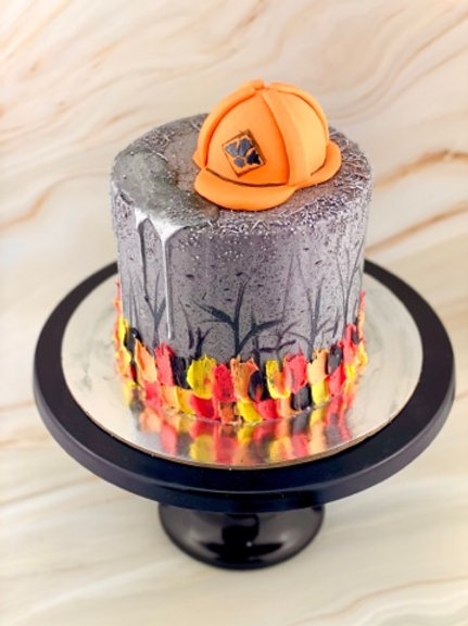 Fire Fighter Bush Fire Cake