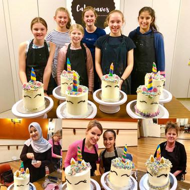 Unicorn Holiday Cake Class
