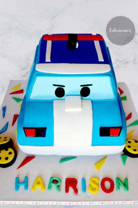 3D Police Car Birthday Cake