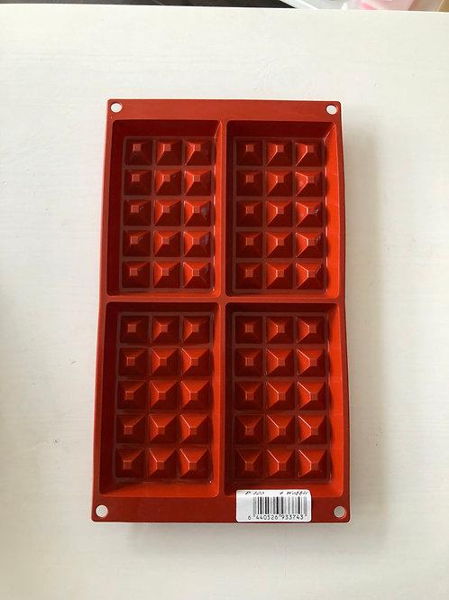 Silicone Bakeware - mould - Waffle 4 cavity