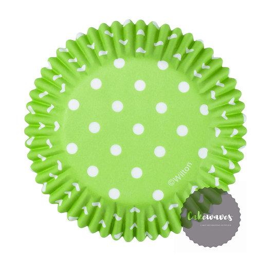 Green Dots Cupcake case 75 pcs