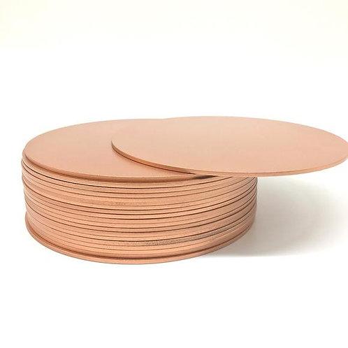 10 inch Round Rose Gold Masonite Cake Board