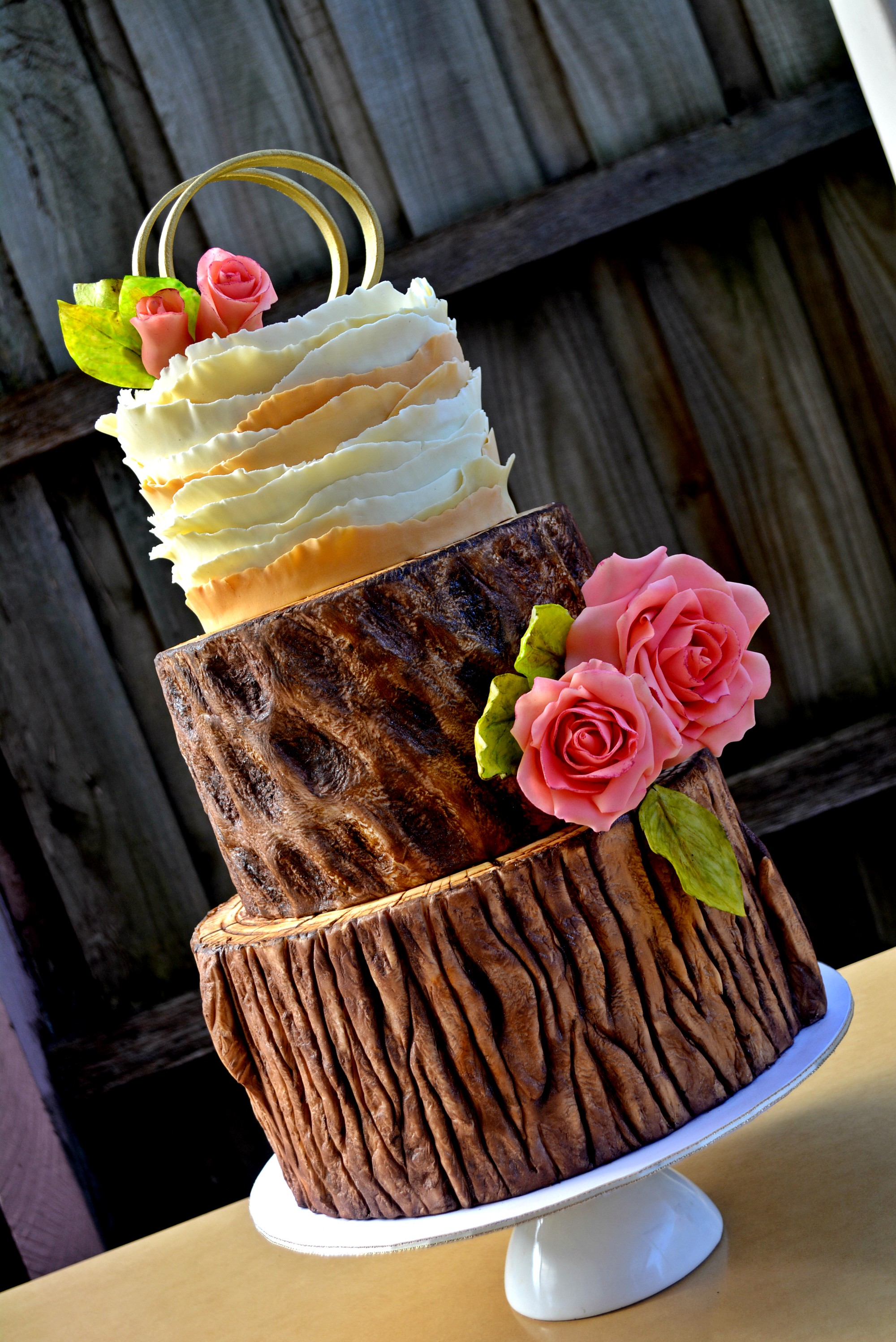 Wedding Woodern Trunk Cake