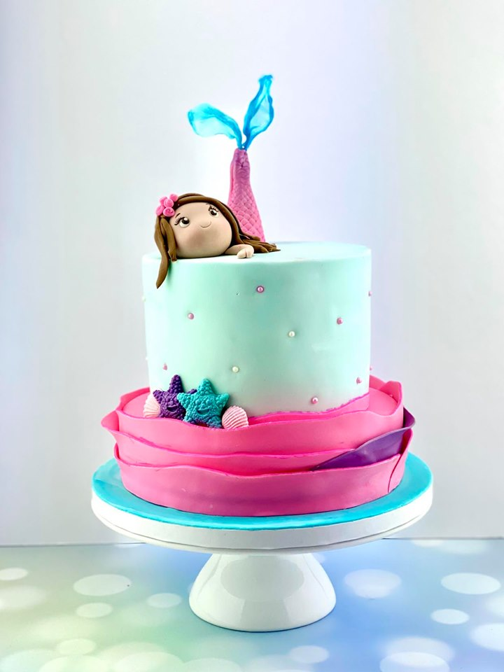 Mermaid Girl Cake
