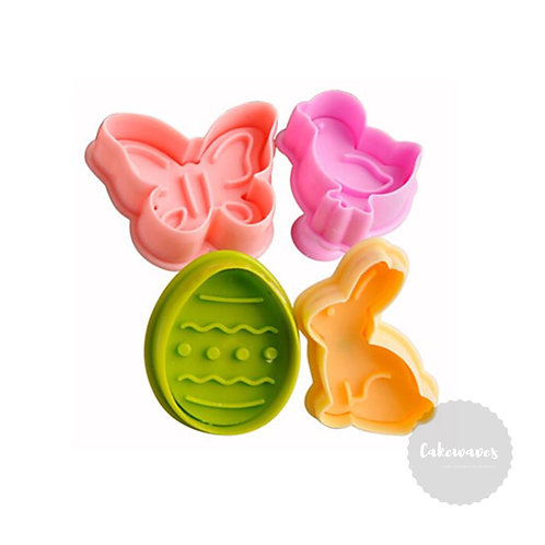 Easter Assorted Plunger Cutter 4pc