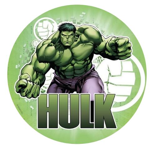 Hulk Edible Image Style2 - Round