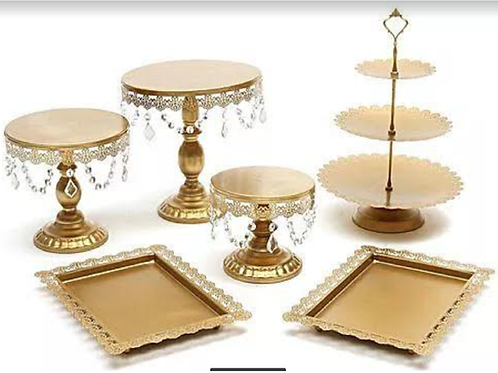 Gold Cake Stand Set - Hire