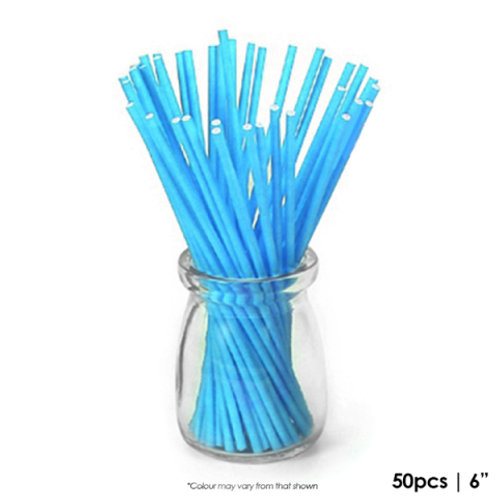 Coloured Lollipop Sticks 6 Inch - Blue