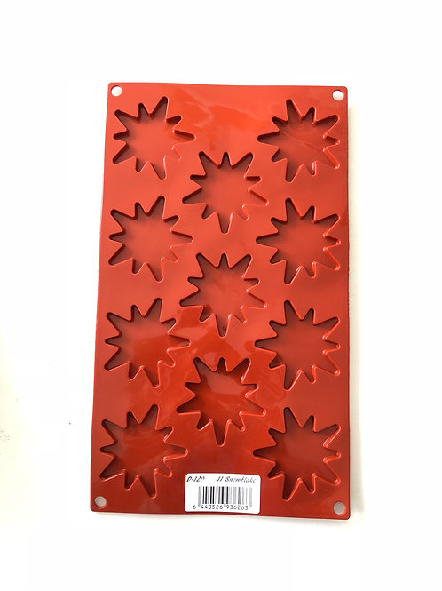 Multi cavity Snowflakes Silicone mould or bakeware