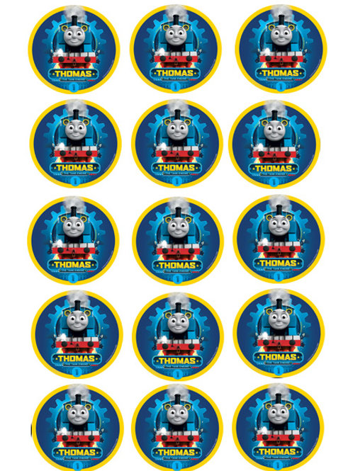 Thomas The Tank Edible Image Style2 - Cupcake cirles 2 inch