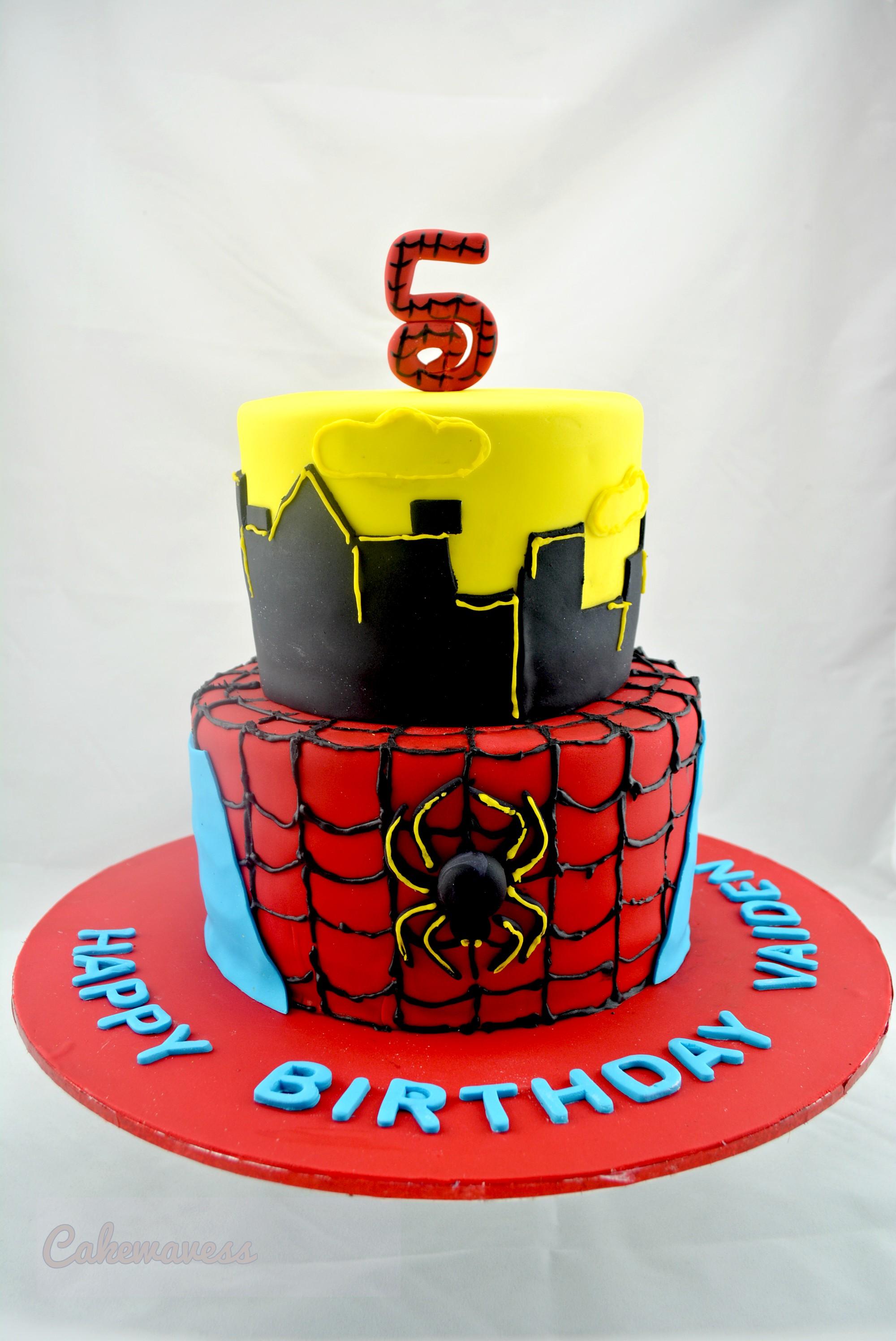 SpidermanCake_cakewaves