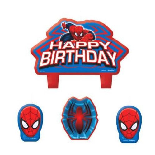 Spiderman Candle Set 4pc