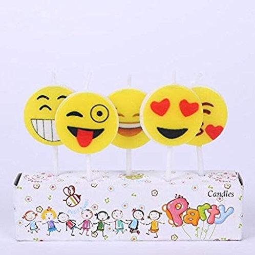 Acrylic Emoji Cake Topper - 5pc