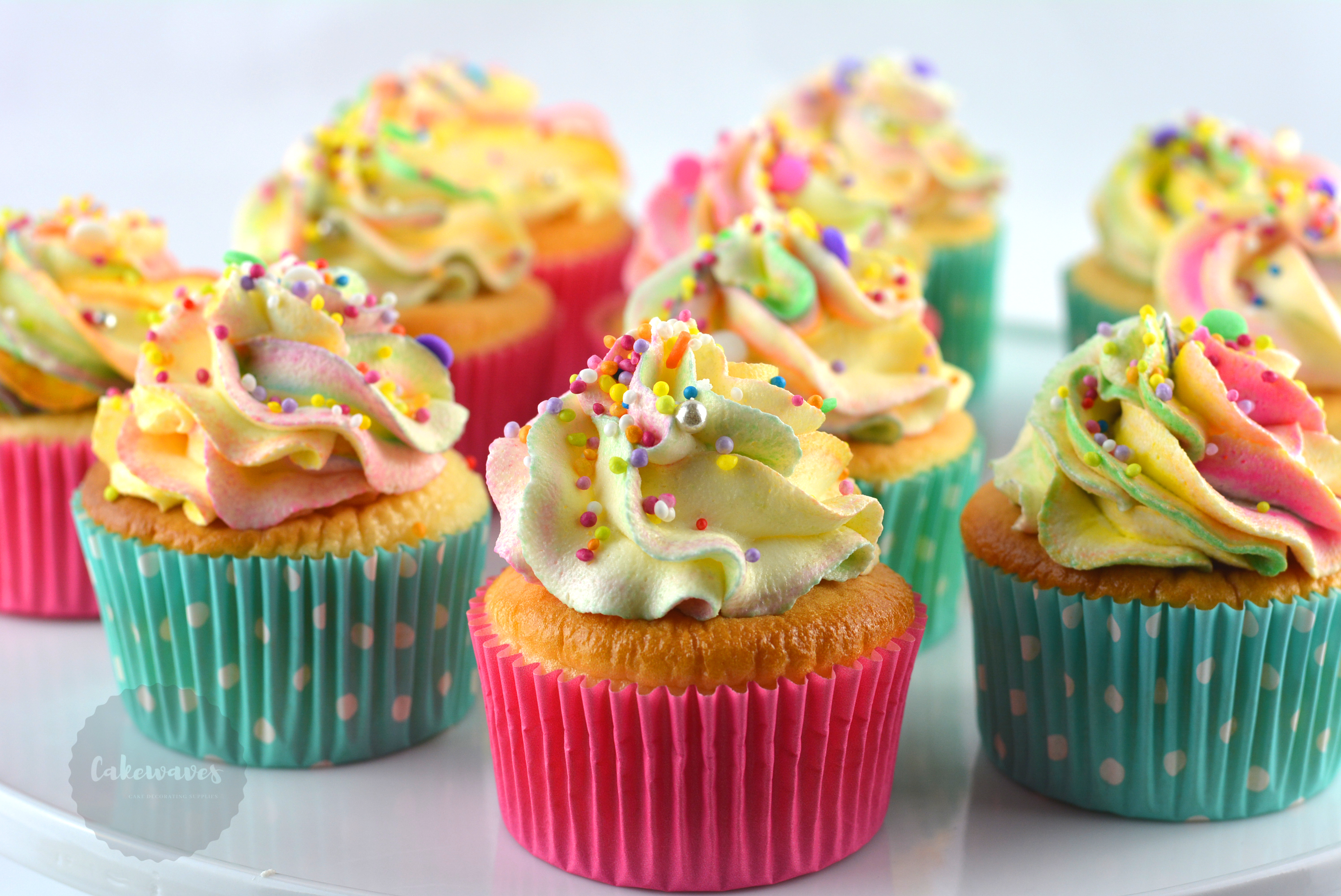 Rainbow Cupcake with Sprinkles