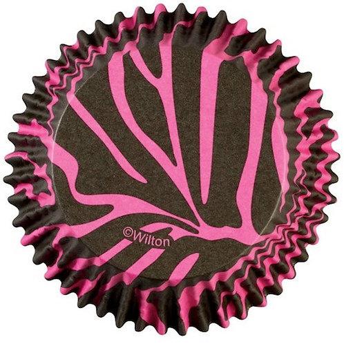 Standard Pink Zebra Cupcake cases or patty pans