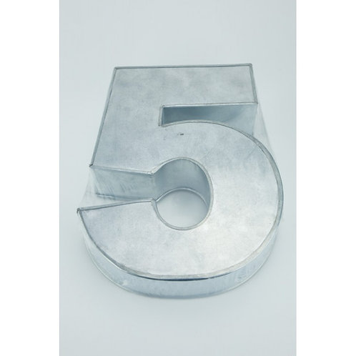 NUMBER FIVE - 5 - CAKE TIN, PAN 14 inch