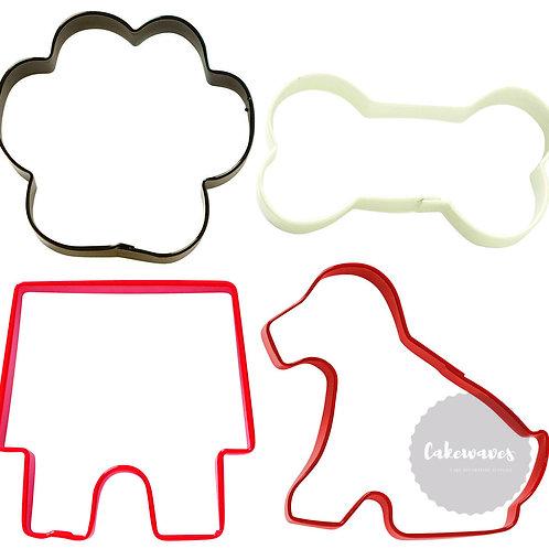 4 Piece Pets Cookie Cutter Set - Wilton