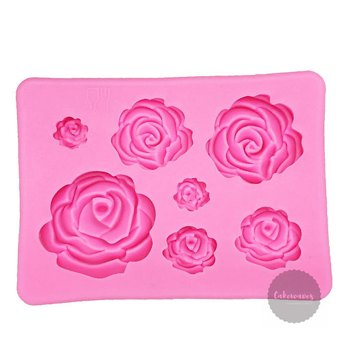 3D Rose Multi Cavity Silicone Mould
