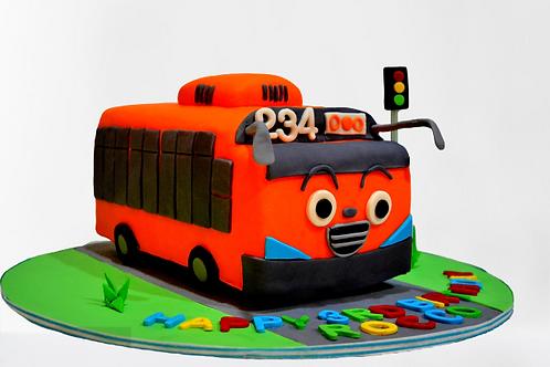 School Bus Birthday Cake