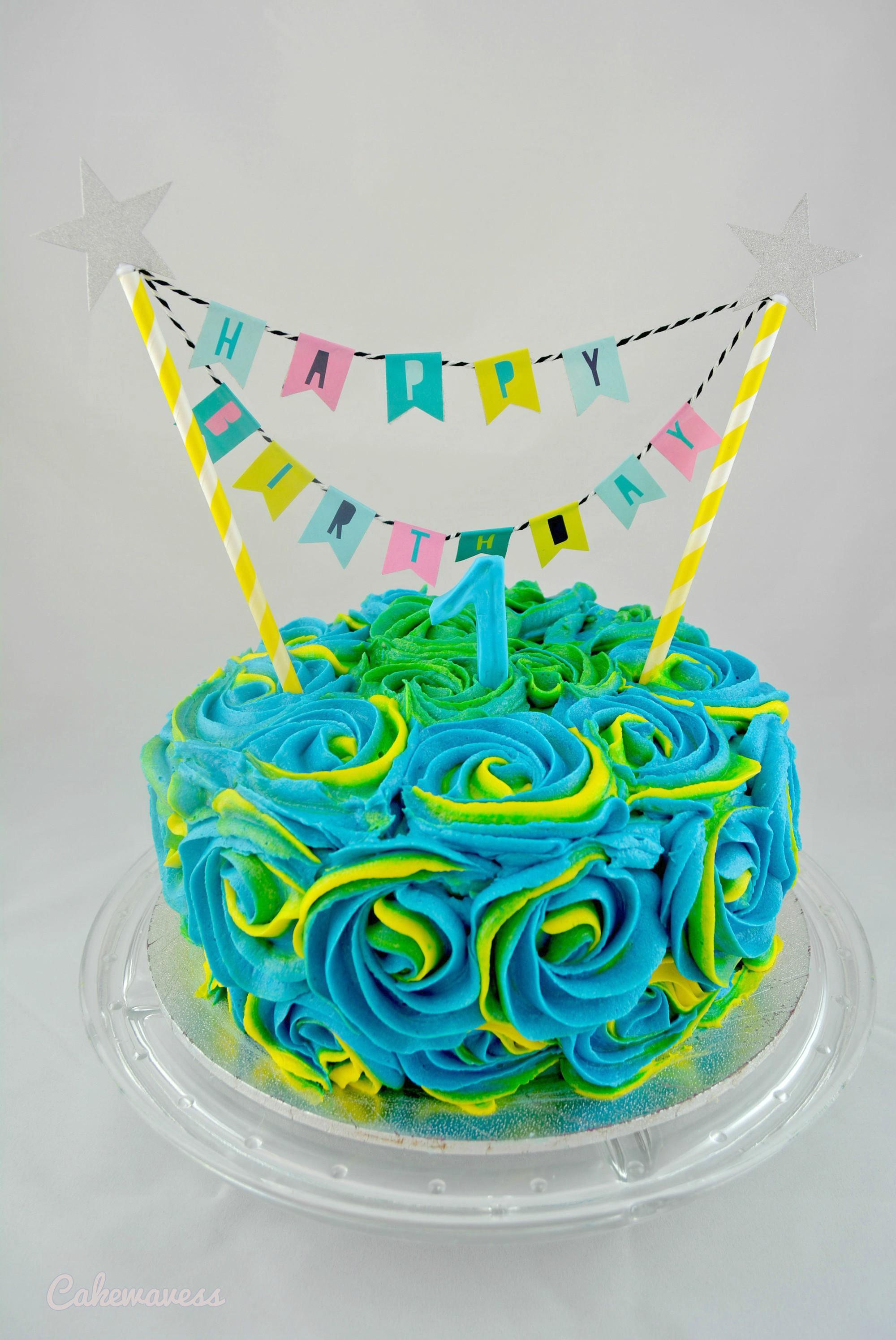 1stBirthdayCake_cakewaves
