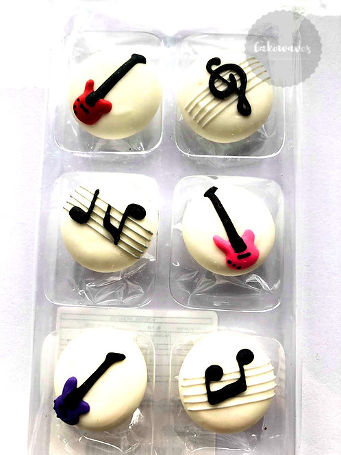 Music Notes Royal Icing Decorations 6pc
