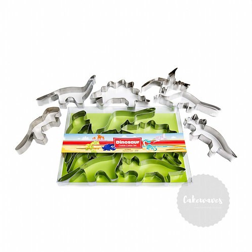 Dinosaur 6pc Stainless Steel Cookie Cutter