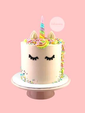 Pink Rainbow Unicorn Cake