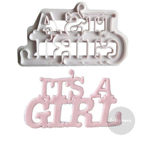 IT'S A GIRL Script Fondant Cutter