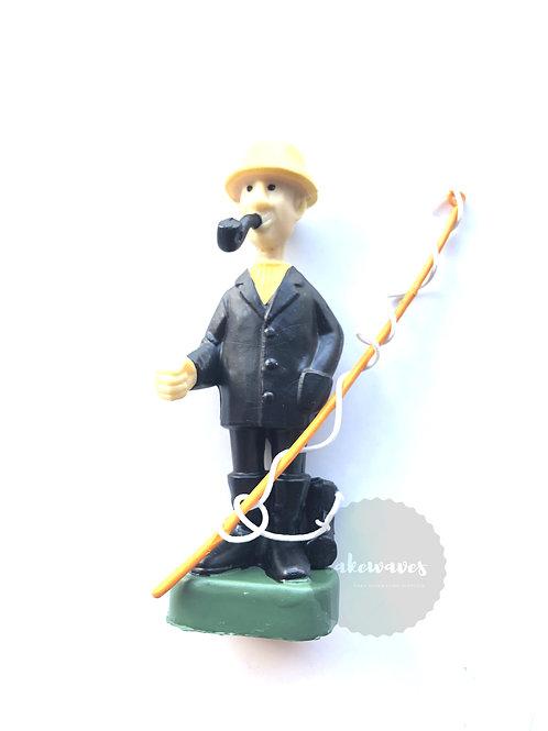 Fisherman Cake Topper Figurine - Style2
