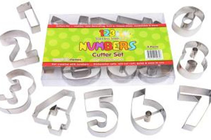 Large Number Cookie Cutter Set 9pc