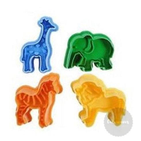 Safari Animal Plunger Cutter 4pc