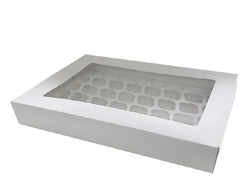 48 Holds White Mini Cupcake Case With Inserts