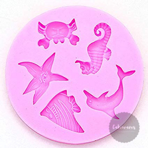 Sea Creatures Silicone Mould