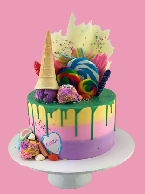 Candy Loaded Icecream Drip Cake1