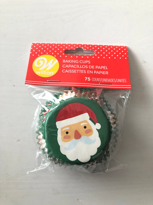 Christmas Santa Face Cupcake Case Bottom