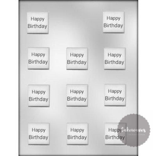 Birthday Square Mint 11 Cavity Chocolate Mould