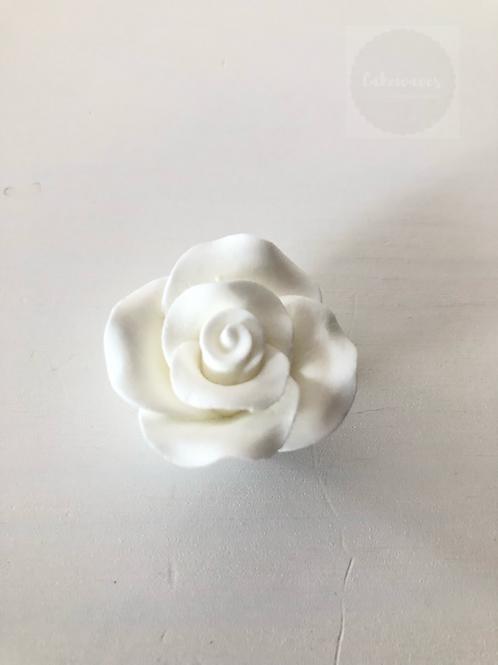Edible Rose - White Small 3cm