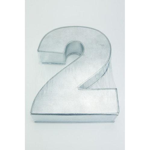 NUMBER TWO - 2 - CAKE TIN, PAN 14inch