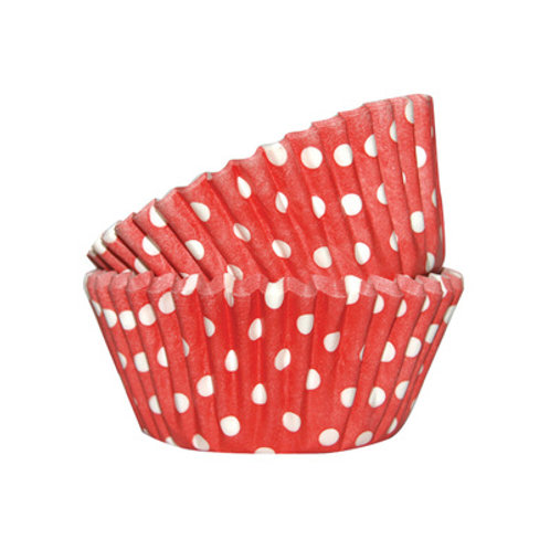 Mini Red Dots Baking Cups 50pc