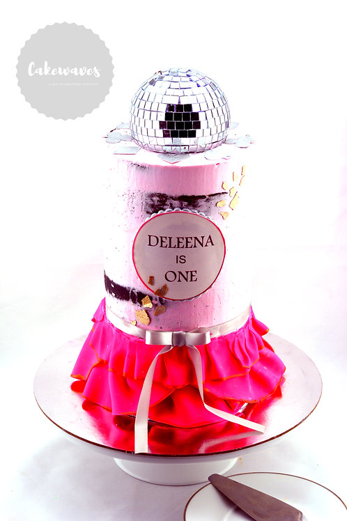 Disco Ball First Birthday Cake