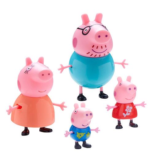 Peppa Pig Family Figurine 4pc