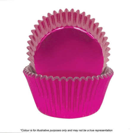 Foil Cupcake Cases / Baking Cups 72pc - Pink