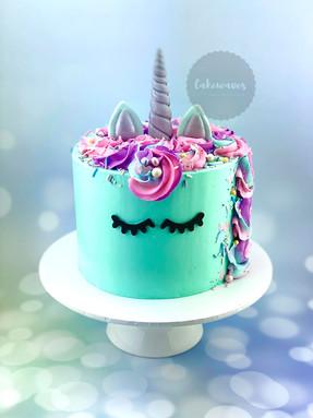Blue Unicorn Cake