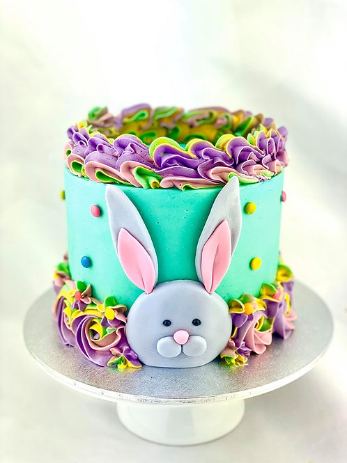 Bunny In The Burrow Cake - Pastel