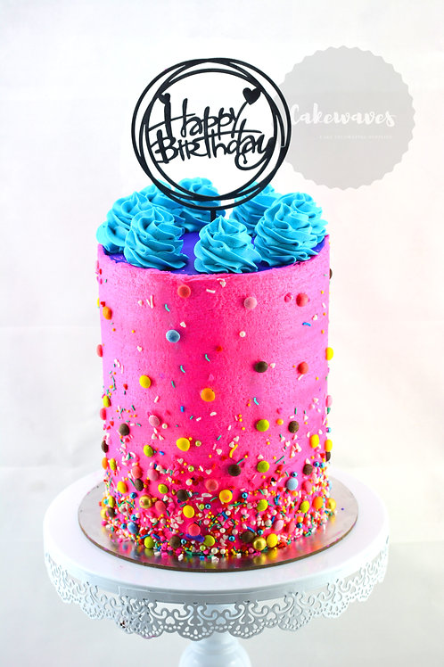 Buttercream Sprinkle Tall Style Cake