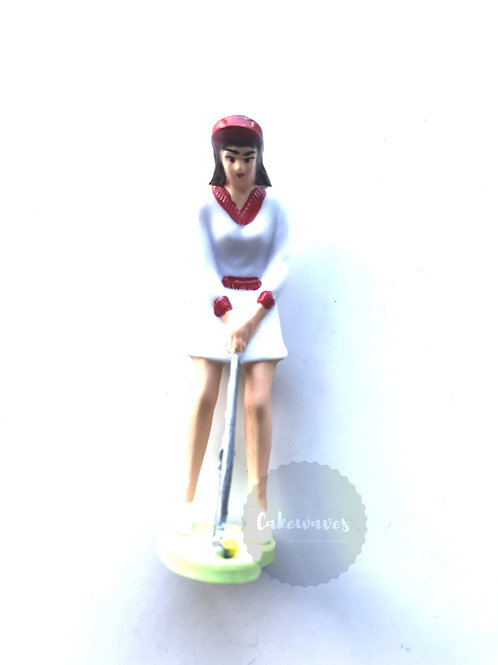 Female Golfer Cake Topper Figurine