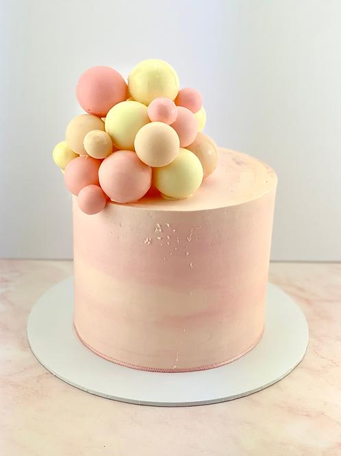 Buttercream Cake With Chocolate Balls