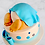 Two Tiered  Baby Bottom Baby Shower Cake2