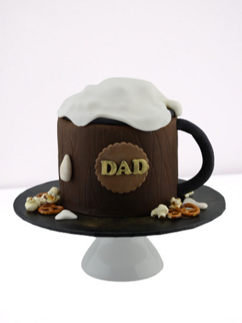 Father's Day Beer Mug Cake